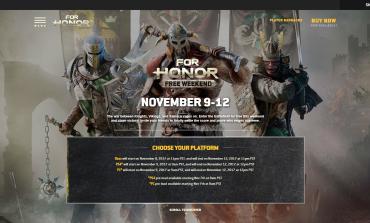 Δωρεάν 4ήμερο για το For Honor της Ubisoft