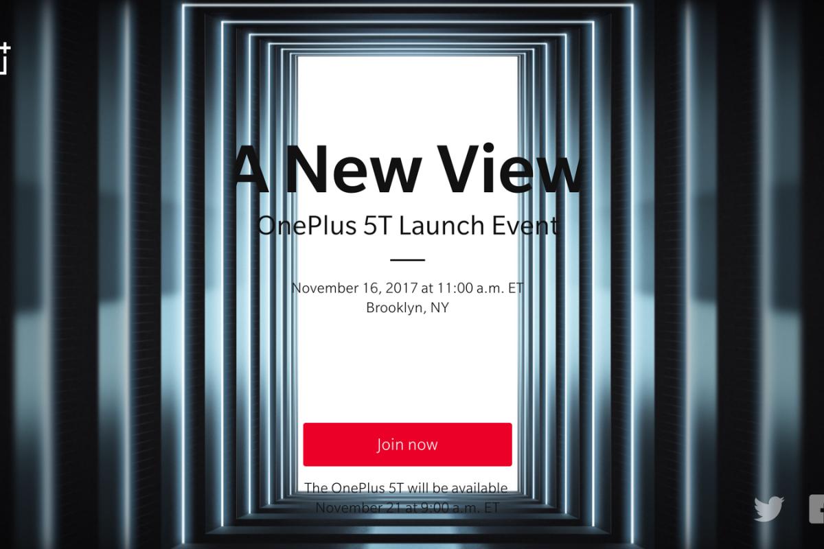 OnePlus 5T: Θα ανακοινωθεί με κάθε επισημότητα στις 16 Νοεμβρίου